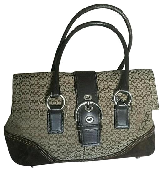 Coach Tote Handbag Purse Louis Vuitton Neverfull Keepall Rucksack Small Leather Goods School Leather Suede Jacquard Vintage Satchel in Brown