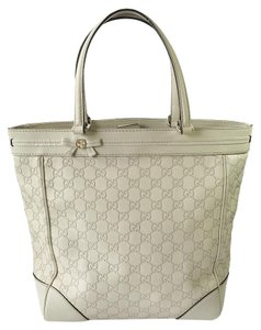 Gucci Monogram Tote in White