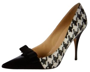 Kate Spade Designer Made In Italy Black and White Pumps