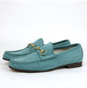 Gucci New Mens 1953 Suede Horsebit Loafer Moccasin Teal 307929 4715 8/us 9