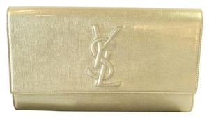 Saint Laurent Patent Yellow Clutch