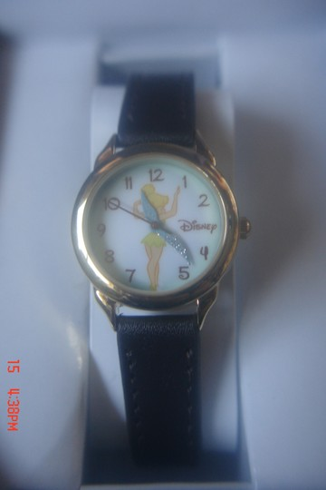 Disney DISNEY TINKER BELL FAIRY WINGS STAINLESS STEEL WRIST WATCH ADORALBE GIFT BOX NEW