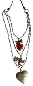 Betsey Johnson Betsey Johnson Valentines Day Layer Necklace