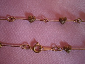 Other Like New Dainty Gold Plated Hearts Necklace