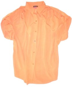 Vince Camuto Silk & Cotton Free Shipping Like New Gold Color Buttons Button Down Shirt