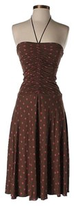Brown Maxi Dress by Betsey Johnson Polka Dot Halter