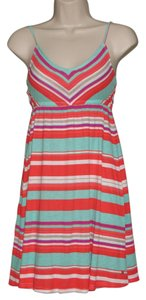 Hurley short dress Multi-Colored, Red, Turquoise Blue, White Short Mini Summer on Tradesy