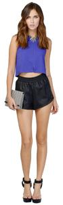 Tobi Faux Leather Biker Night Out Summer Sale Shorts Black