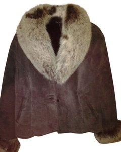 Knoles & Carter Fur Fox Silver Suede Plum Fur Coat