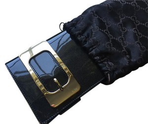 Gucci Black Metallic Clutch