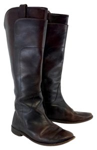 Frye Dark Brown Leather Melissa Riding Tall Boots