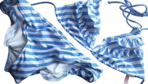 Victoria's Secret New Victoria's Secret Striped Swim Set Large