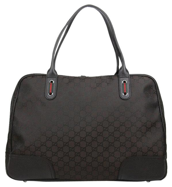 Item - Tote Large Business Web Detail 293595 2074s Brown Nylon Weekend/Travel Bag