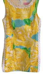 Lilly Pulitzer short dress Yellow with Blue, Green, and White on Tradesy