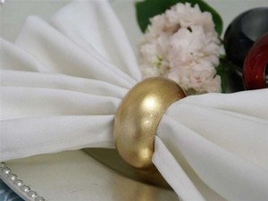 Gold (60) Leaf Napkin Rings- New Packaging Reception Decoration