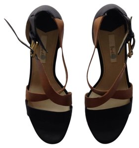 Boden navy & cognac Sandals