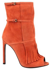Gucci Suede Becky Gladiator 347283 Orange Boots