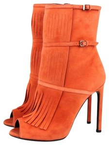 Gucci Suede Fringe Becky Gladiator Boots