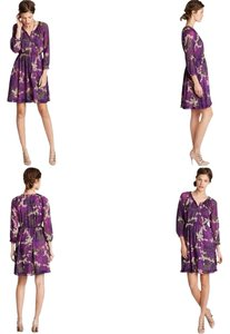 J.Crew short dress Purple Mutli Color Floral Maisie on Tradesy