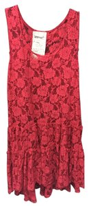 Free People short dress Red Rose Lace Mini on Tradesy