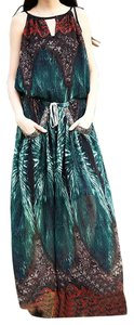 Green Maxi Dress by Aporia.as