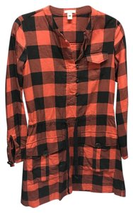 J.Crew short dress Red Black Plaid Lumberjack Long Sleeve on Tradesy