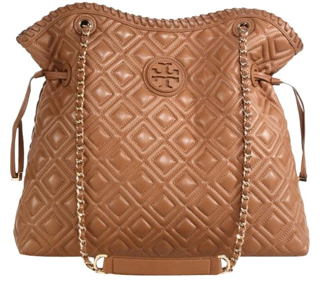 Item - Marion Quilted Slouchy Tigers Eye Leather Tote
