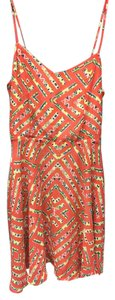 Fire short dress Orange Open Back Print on Tradesy