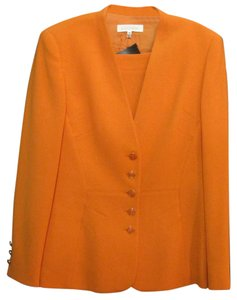 Escada ESCADA, SZ 38, WOOL, ORANGE , 2 PC SUIT, SKIRT, 2DIE4!!!!