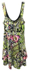 Free People short dress Green Watercolor Floral Figure Skater Spandex on Tradesy