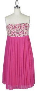 Lilly Pulitzer Strapless Pleated Embroidered Dress