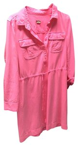 J.Crew short dress Pink T-shirt Pockets Long Sleeves on Tradesy