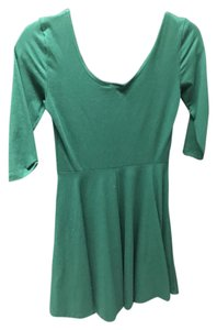 Sparkle & Fade short dress Emerald Urban Outfitters Skater Fit And Flare Green on Tradesy
