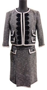 Nanette Lepore Nanette Lepore Black & White Embroidered Suit