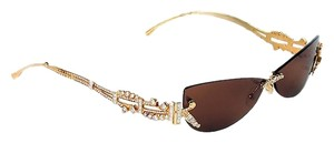 Judith Leiber Judith Leiber Diamond Sunglasses 18K Gold New with Tag $18,500 Retail