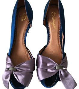 Miss Albright Blue with purple. Pumps