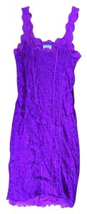 Free People short dress Purple/Magenta Intimate Lace Magenta on Tradesy