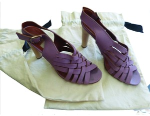Lanvin Leather Basket Weave lavender Pumps