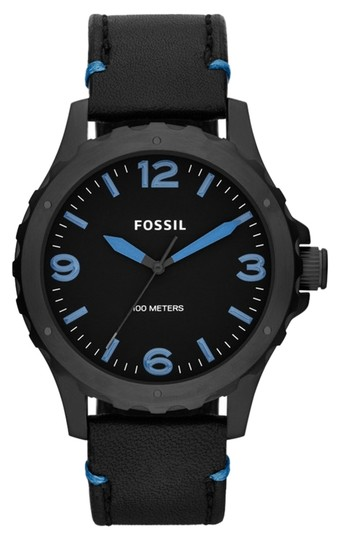 Fossil Fossil Male Nate Watch JR1446 Black Analog