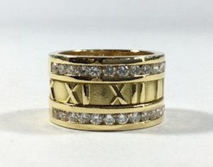 Tiffany & Co. Tiffany & Co. Atlas Ring with Two Rows of Diamonds