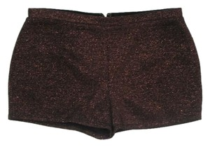 Lucca Couture Mid-rise Shimmery Shorts Bronze