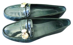 Bally Loafer Patent Leather green Flats