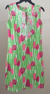 Barbara Gerwit short dress Pink/Green/White Resort Beach Sundress New With Tags on Tradesy
