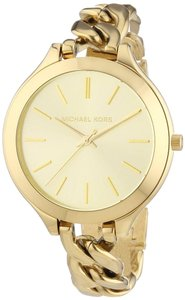 Michael Kors NWT Slim Runway Gold- Watch MK3222