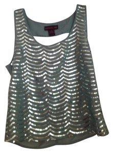 Material Girl Cutout Sequin Tank Top Teal