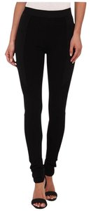 BCBGMAXAZRIA Moto Ribbed Bcbg Trendy Black Leggings