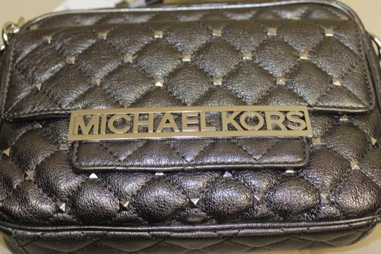 Michael Kors Studded Leather Nickel Messenger Bag