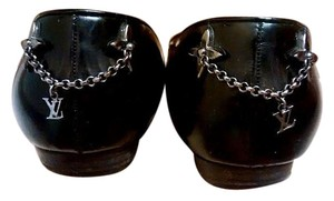 Louis Vuitton Patent Leather Black Flats
