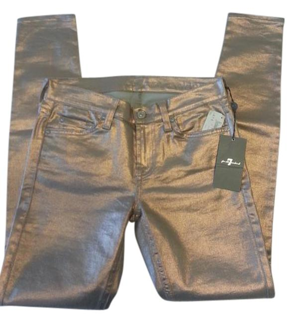 Item - Copper Coated Gold Metallic Skinny Jeans Size 26 (2, XS)