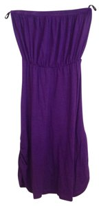 Guess short dress Purple Strapless Cinched Elastic on Tradesy